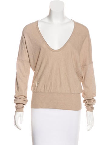Sandro Scoop Neck Knit Sweater None