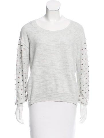 Sandro Embellished Mélange Sweater None