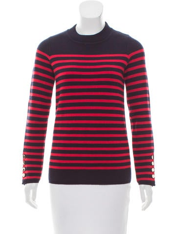 Sandro Wool-Blend Striped Sweater None
