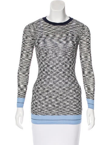 Sandro Knit Long Sleeve Top None