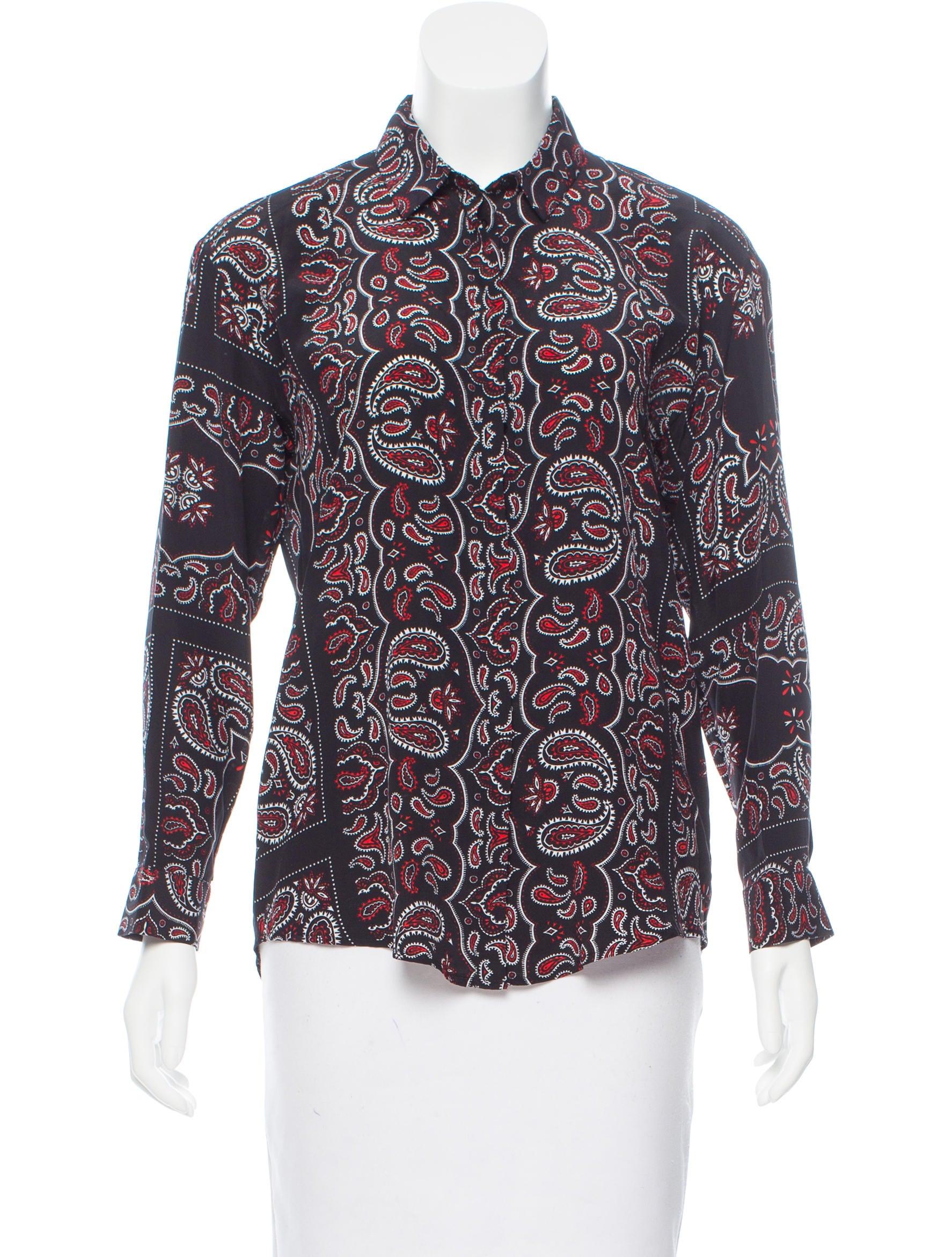 Sandro Bandana Print Silk Top - Clothing