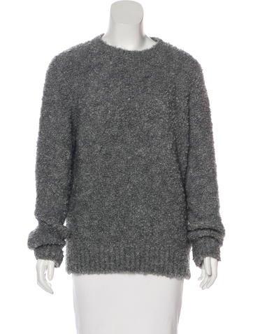 Sandro Bouclé Knit Sweater None