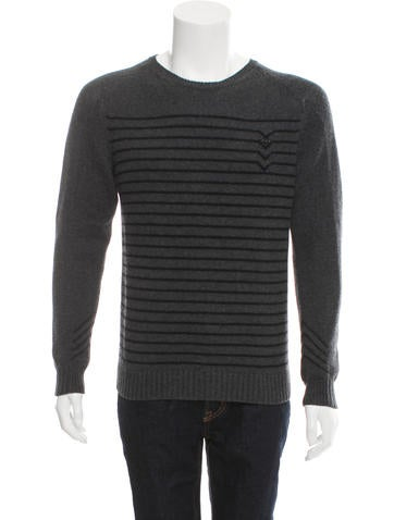 Sandro Stripe Crew Neck Sweater None