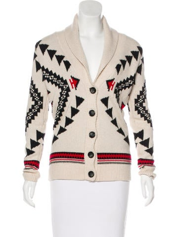 Sandro Patterned Knit Cardigan None