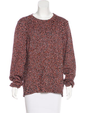 Sandro Patterned Knit Sweater None