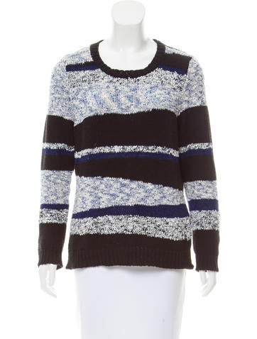 Sandro Metallic Rib Knit Sweater None