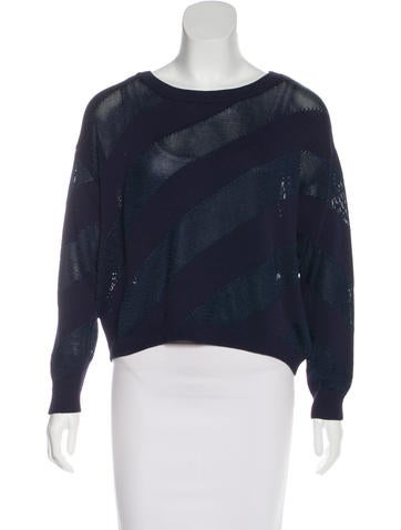Sandro Patterned Knit Sweaters None