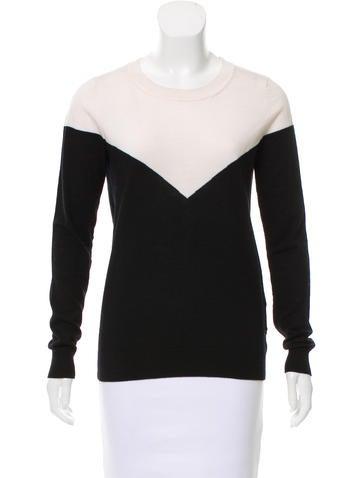 Sandro Wool Colorblock Sweater None