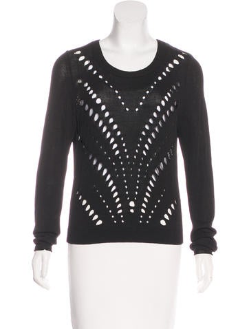 Sandro Vented Knit Sweater None