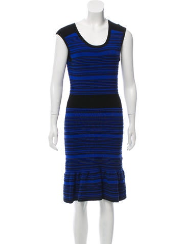 Sandro Striped Bodycon Dress None
