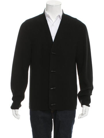 Sandro Wool Rib Knit Cardigan None