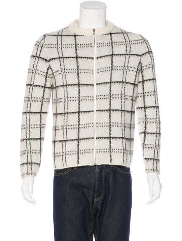Sandro Mohair & Wool Check Sweater None