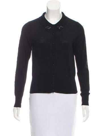 Sandro Wool Embellished Sweater None