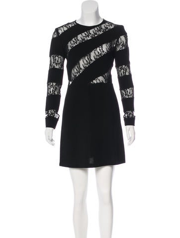 Sandro Lace-Accented Bodycon Dress None