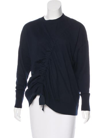 Sandro Bow-Accented Wool Sweater None
