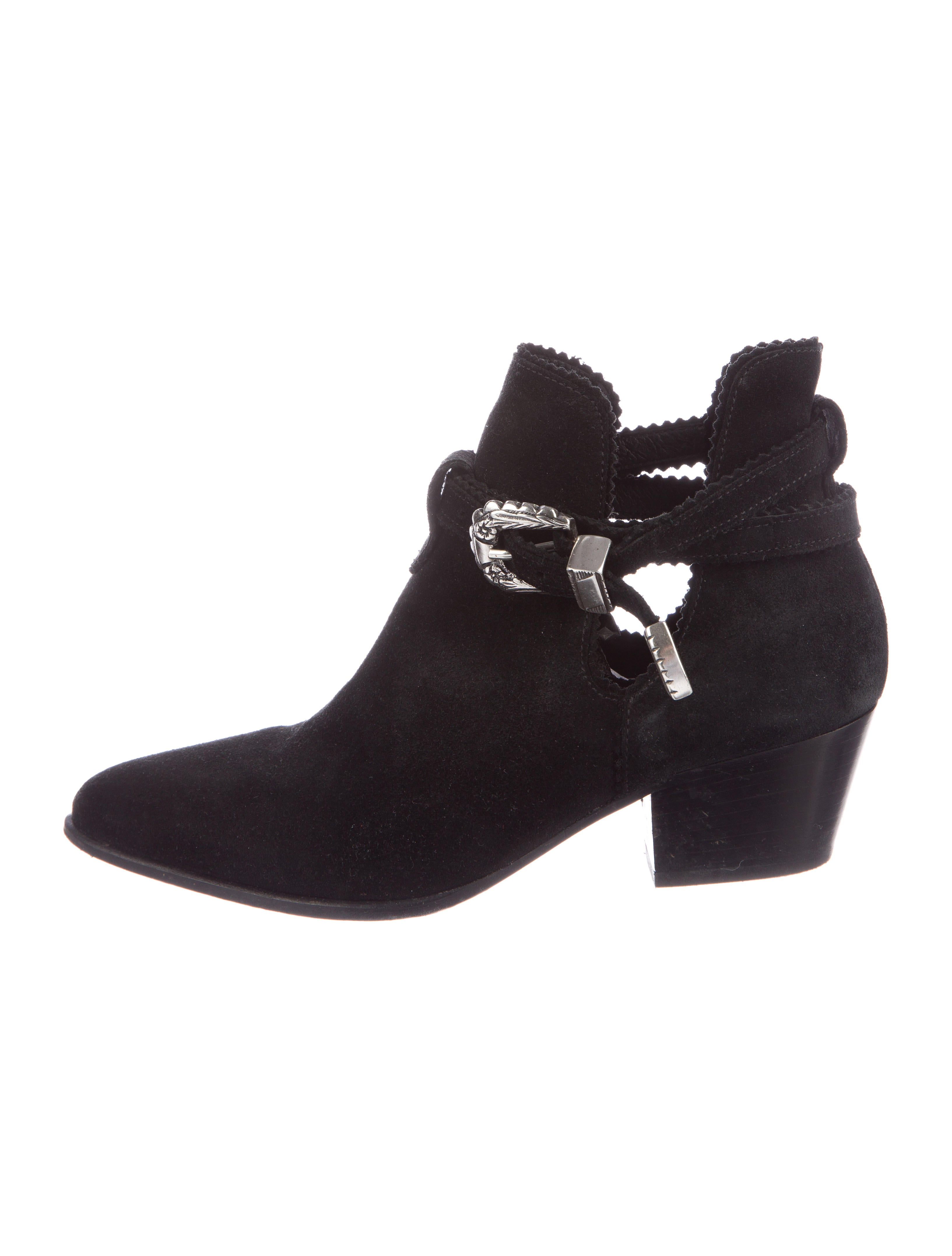 Sandro Suede Pointed-Toe Booties buy cheap new arrival latest collections buy cheap shop for cheap sale countdown package utexPncGOD