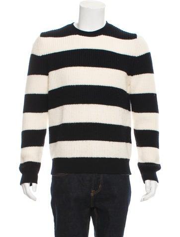 Sandro Striped Rib Knit Sweater None