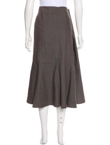 Woven Midi Skirt