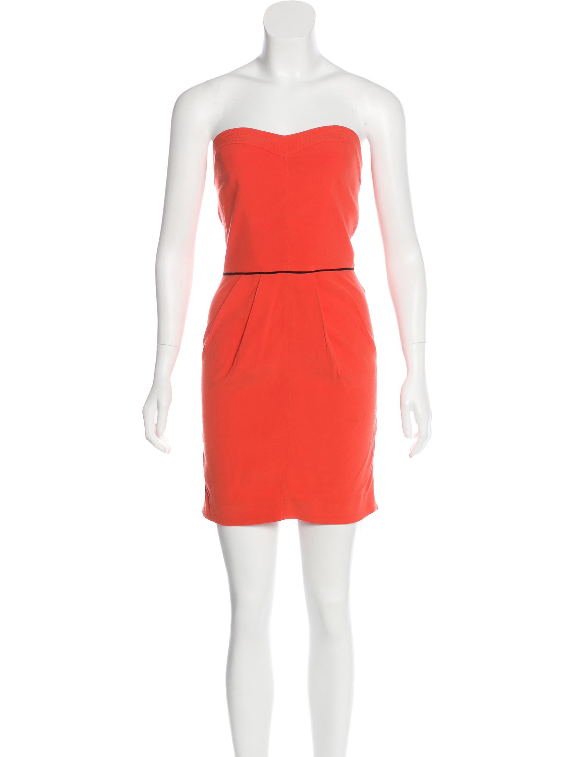 Sandro Strapless Mini Dress Outlet Low Cost NHyuiyg3