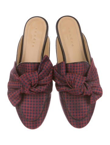 Sandro Maina Jacquard Mules where can you find clearance pictures cheap pictures with credit card cheap price zdrFgHqc
