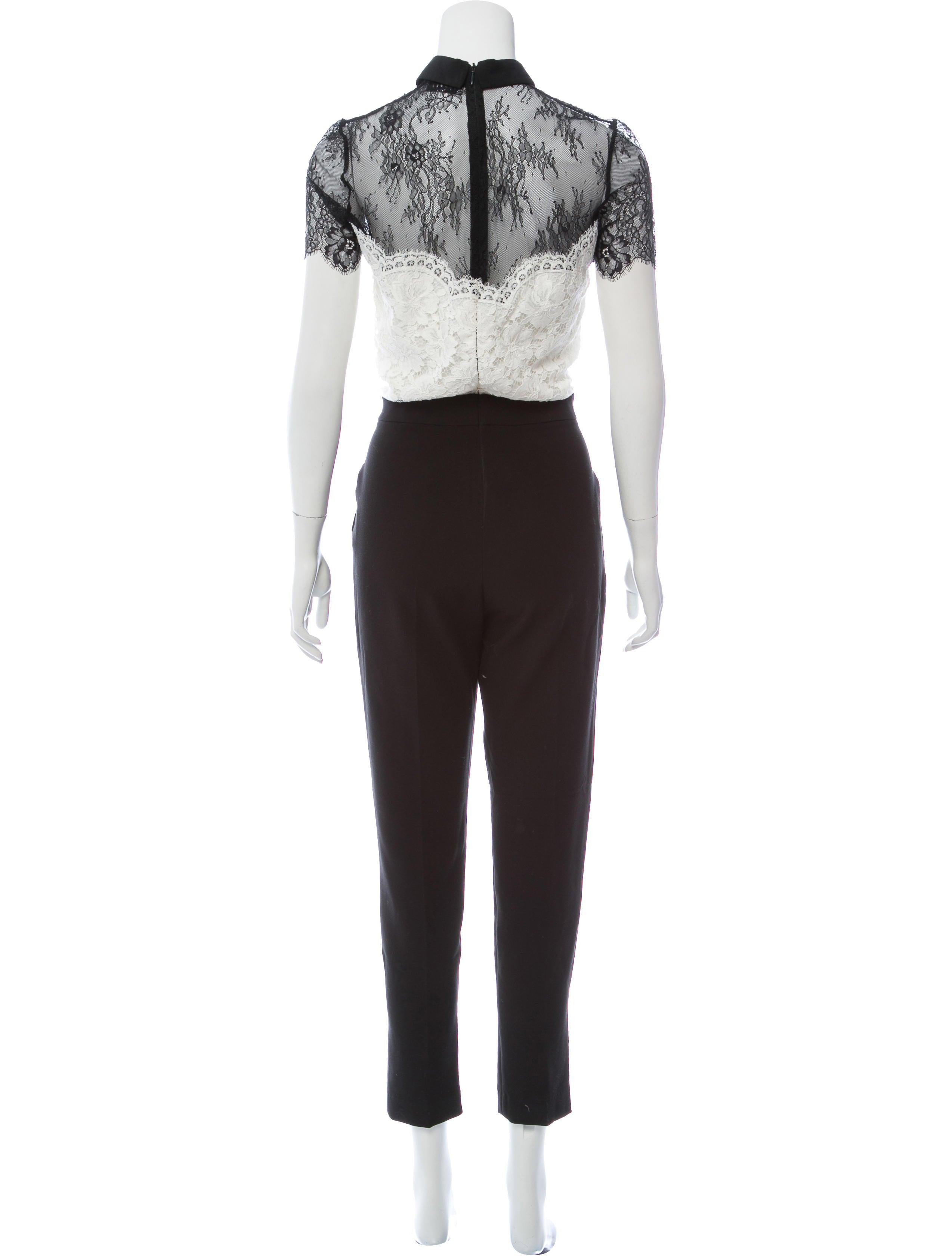 bc4ec8babc Sandro Lace Short-Sleeve Jumpsuit - Clothing - WS234248
