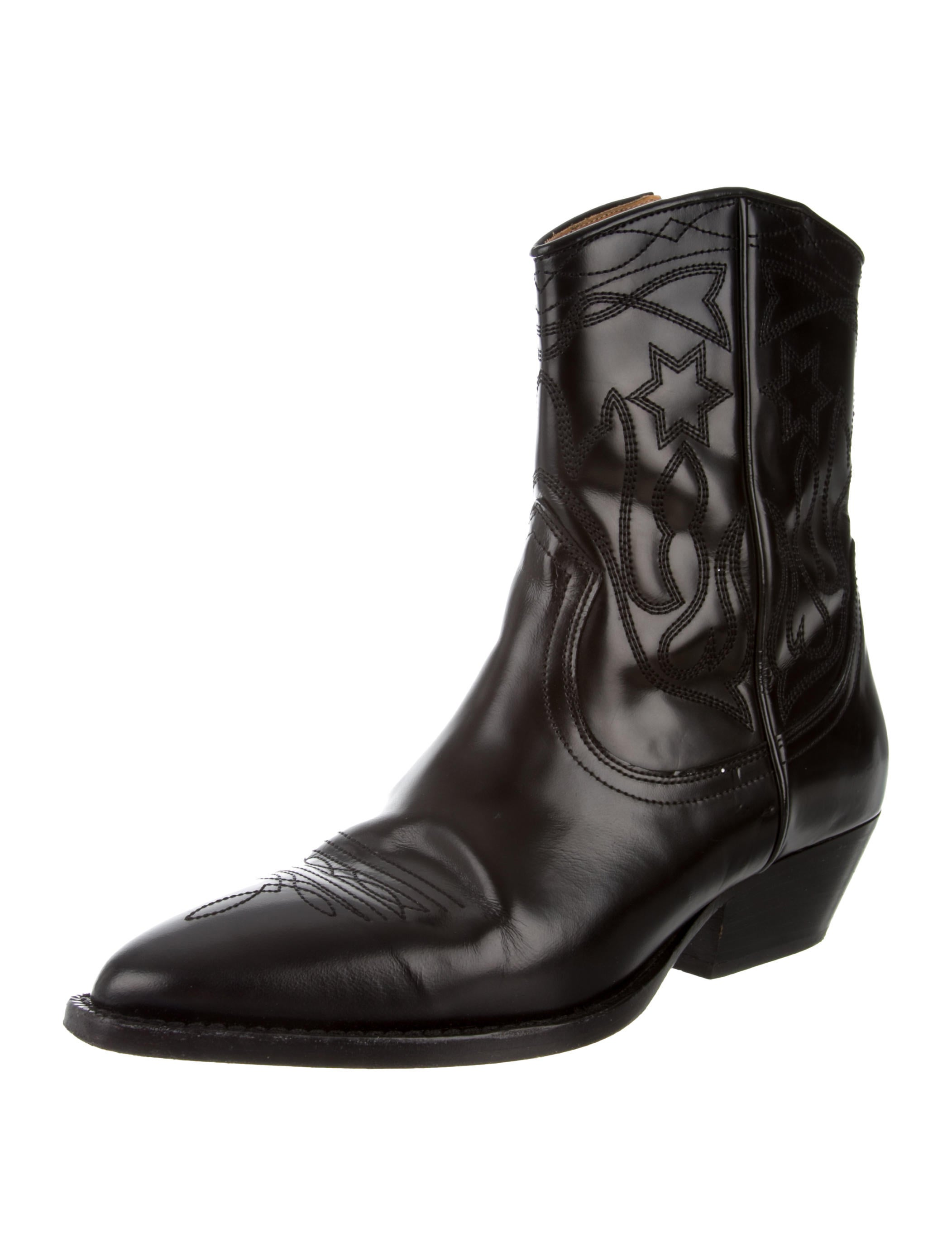 Sandro Cowboy Ankle Boots - Shoes
