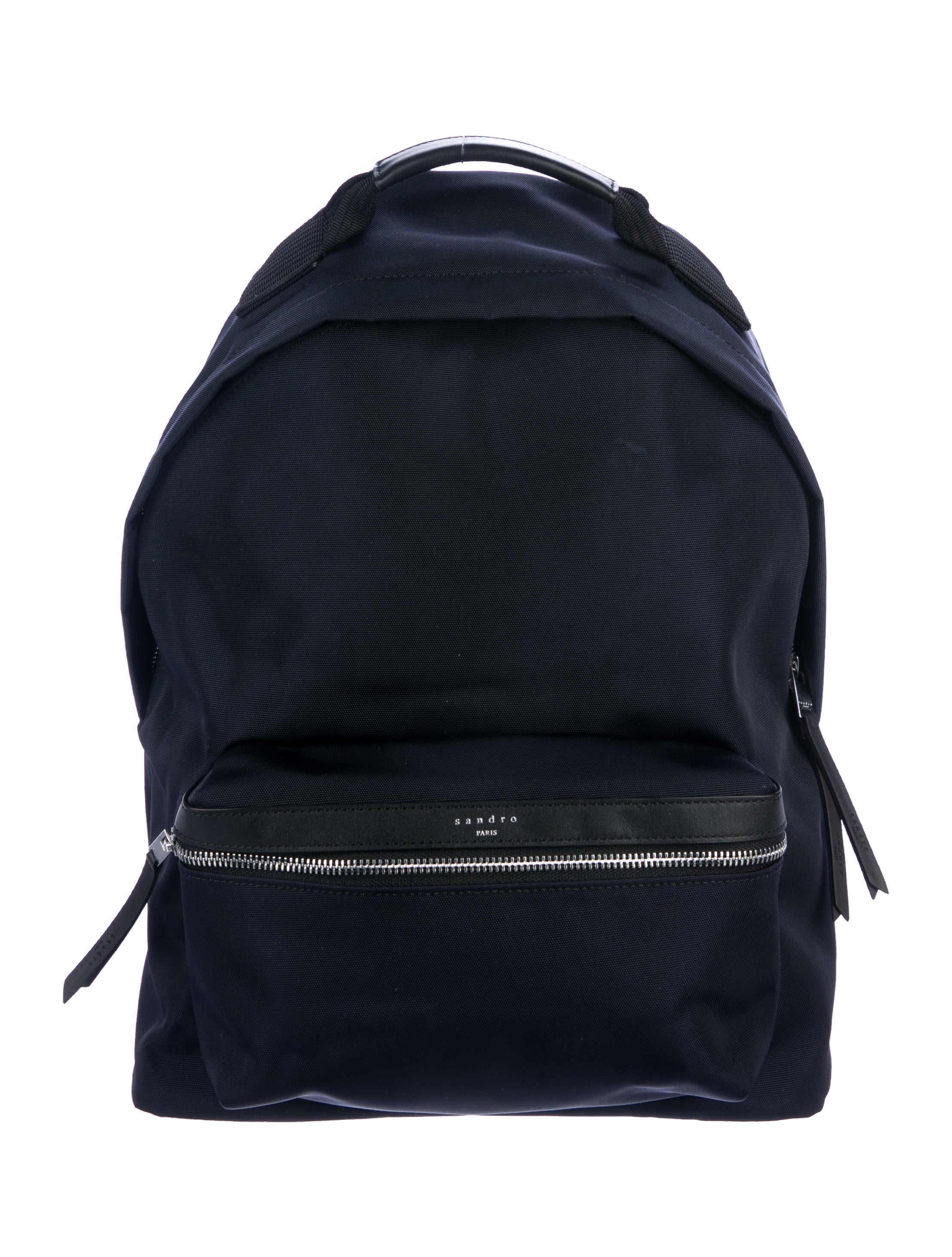 17c8788bf0 Sandro Leather-Trimmed Canvas Backpack w  Tags - Handbags - WS239363 ...