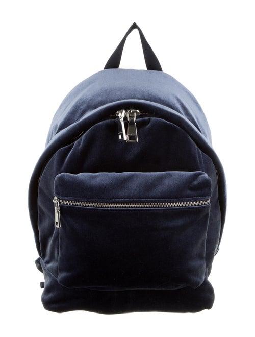 Sandro Velvet Avril Backpack Navy