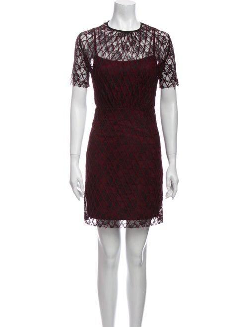 Sandro Lace Pattern Mini Dress