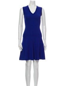 Sandro V-Neck Knee-Length Dress