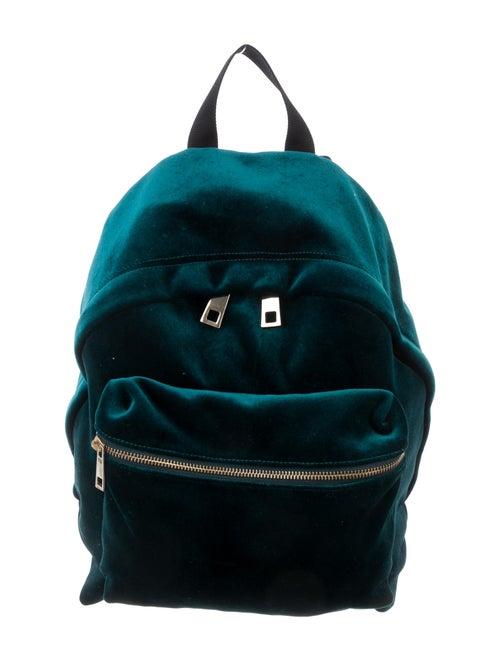 Sandro Velvet Avril Backpack Green