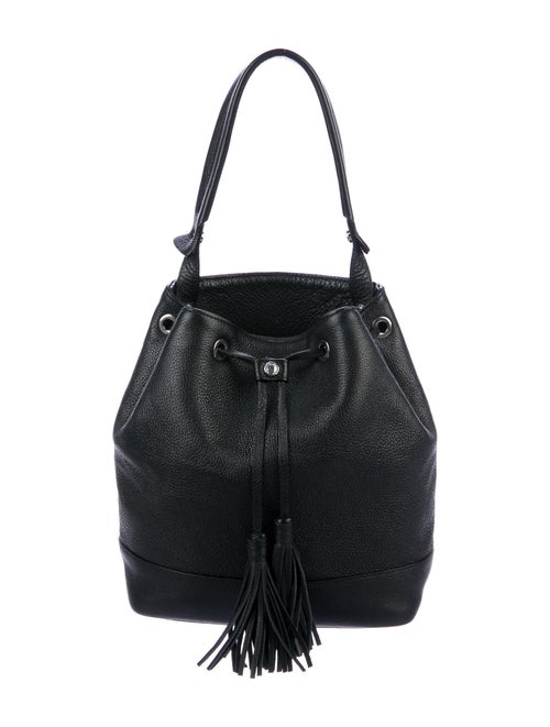 Sandro Leather Shoulder Bag Black