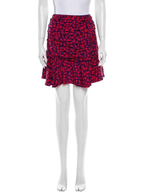 Sandro Printed Mini Skirt Red