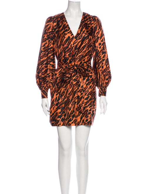 Sandro Silk Mini Dress Orange