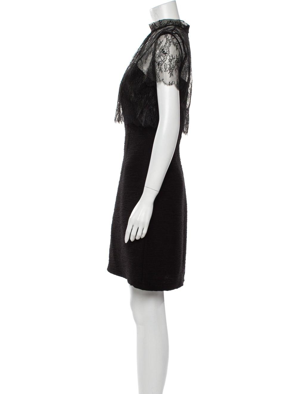 Sandro Lace Pattern Mini Dress Black - image 2