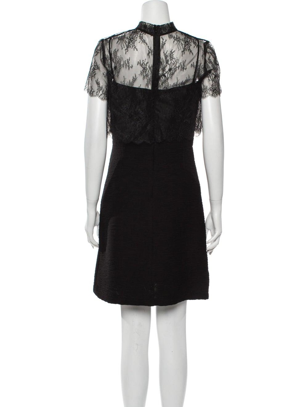 Sandro Lace Pattern Mini Dress Black - image 3