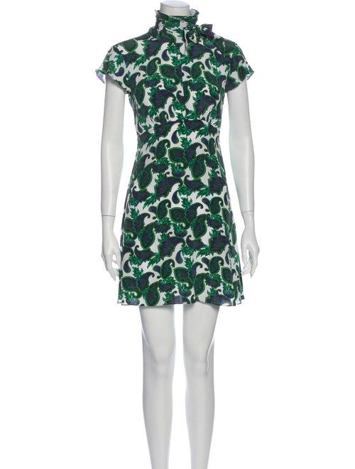 Sandro Silk Mini Dress Green