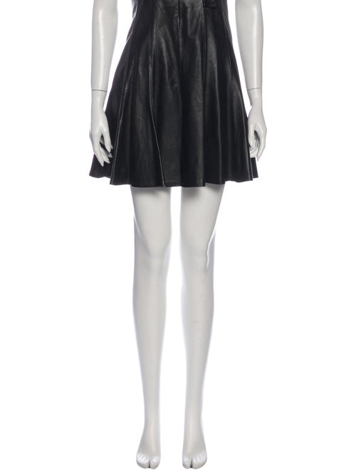 Sandro Leather Knee-Length Skirt Black