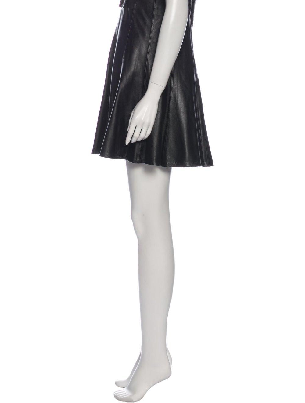 Sandro Leather Knee-Length Skirt Black - image 2