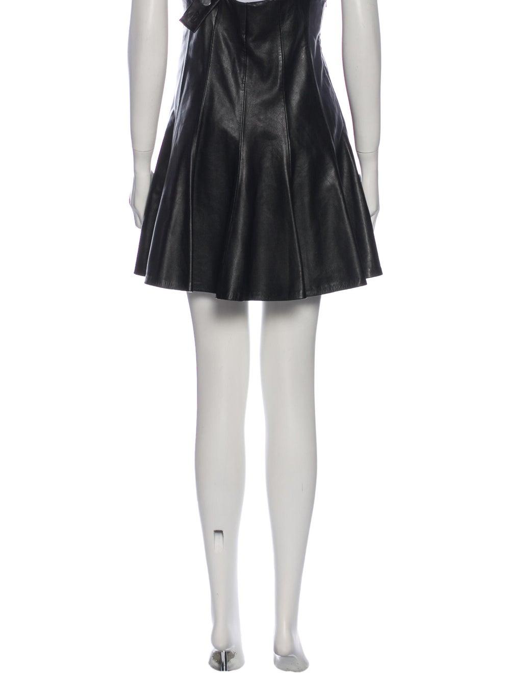Sandro Leather Knee-Length Skirt Black - image 3