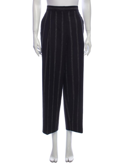 Sandro Striped Wide Leg Pants Black