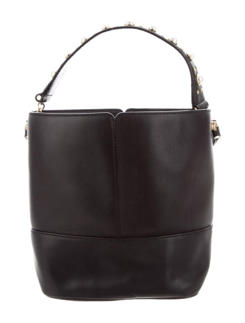 Sandro Leather Bucket Bag Black