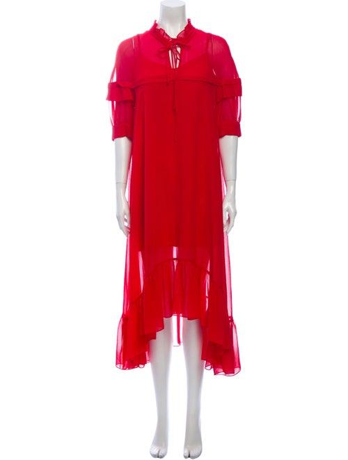 Sandro Midi Length Dress Red