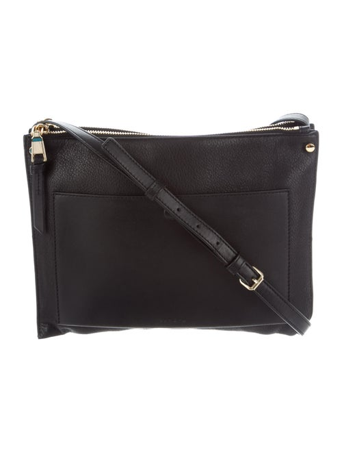Sandro Leather Crossbody Bag Black