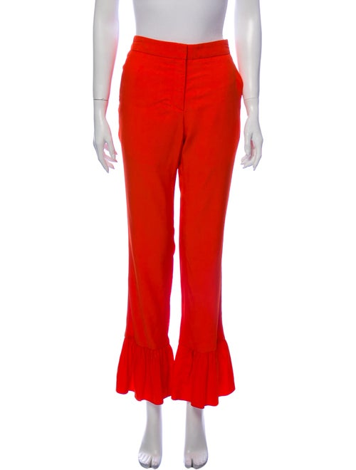 Sandro Flared Pants Orange