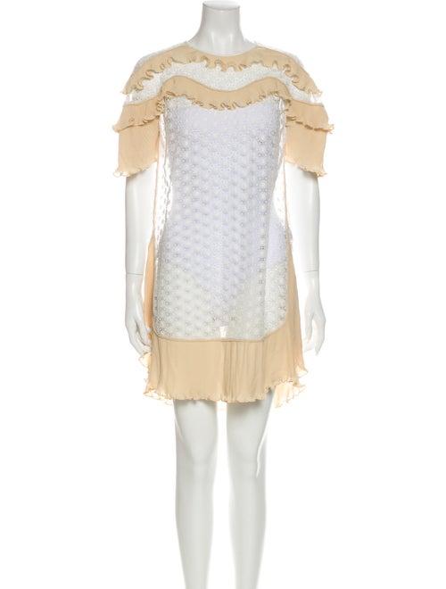 Sandro Lace Pattern Mini Dress White