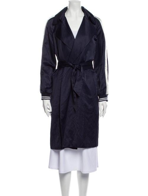 Sandro Trench Coat Blue