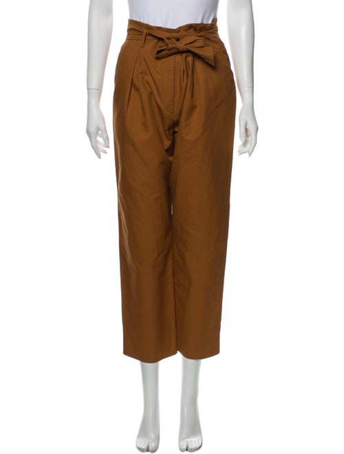 Sandro Straight Leg Pants Brown