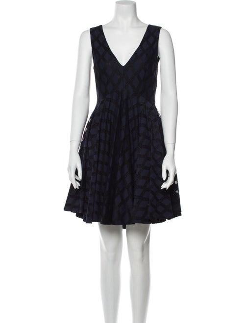 Sandro Printed Mini Dress Black