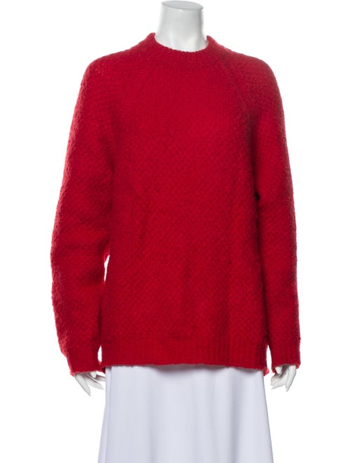 Sandro Mock Neck Sweater Red
